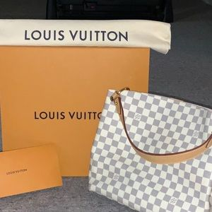 Authentic Louis Vuitton Graceful PM Damier Azur